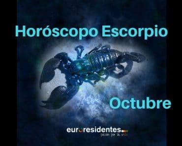 Horóscopo Escorpio Octubre 2018