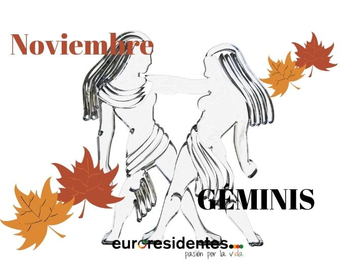 Horóscopo Géminis Noviembre 2019