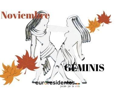 Horóscopo Géminis Noviembre 2018