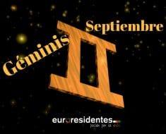 Horóscopo Géminis Septiembre 2019