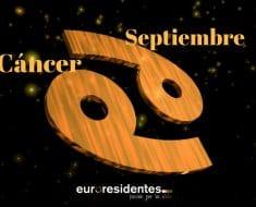 Horóscopo Cáncer Septiembre 2021
