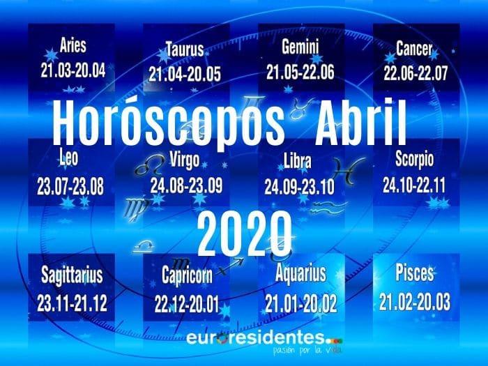 Horóscopos Abril 2020