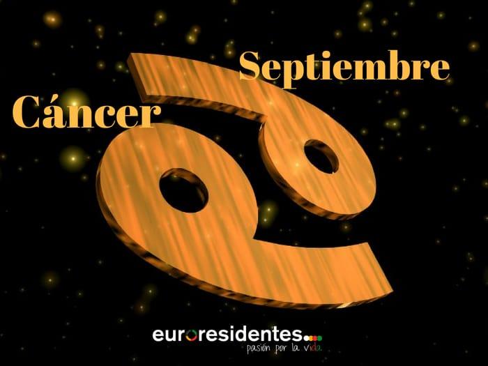 Horóscopo Cáncer Septiembre 2020