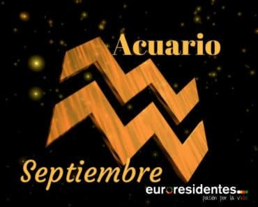 Horóscopo Acuario Septiembre 2021
