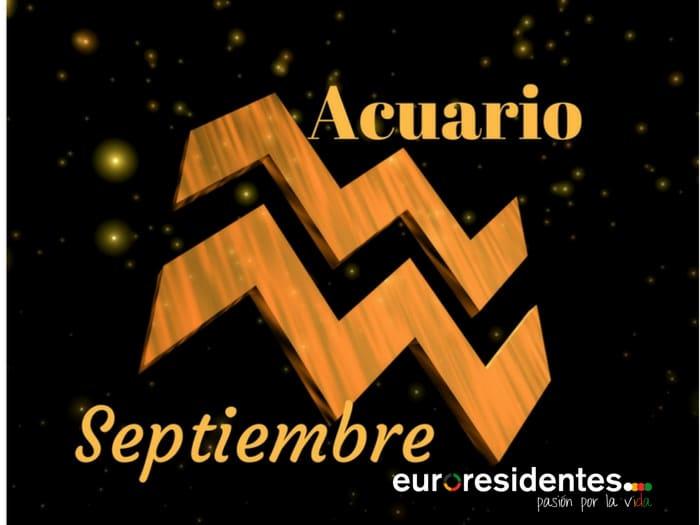 Horóscopo Acuario Septiembre 2020