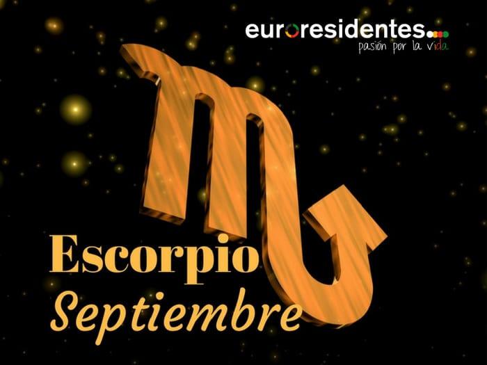 Horóscopo Escorpio Septiembre 2020