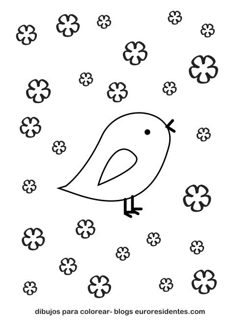 Colorear dibujos de animales. Pollitos - Manualidades