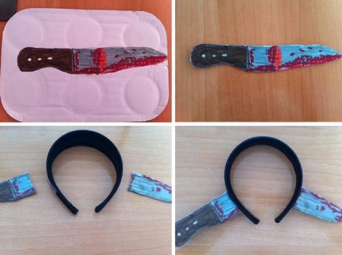 C mo hacer una diadema cuchillo casera manualidades - Como hacer soporte para cuchillos ...
