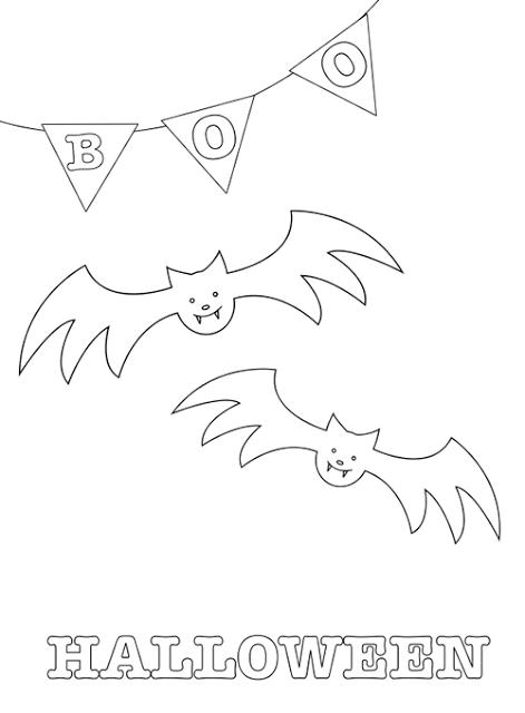 Dibujos de halloween para imprimir y colorear manualidades - Dibujos de murcielagos para ninos ...