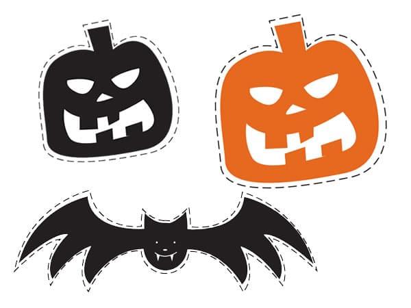 Guirnalda de halloween para imprimir manualidades - Plantillas para decorar calabazas halloween ...