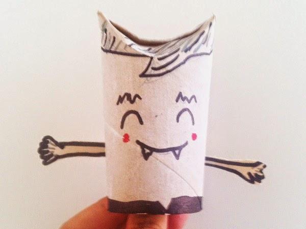 Manualidades de Halloween con rollos de cartón