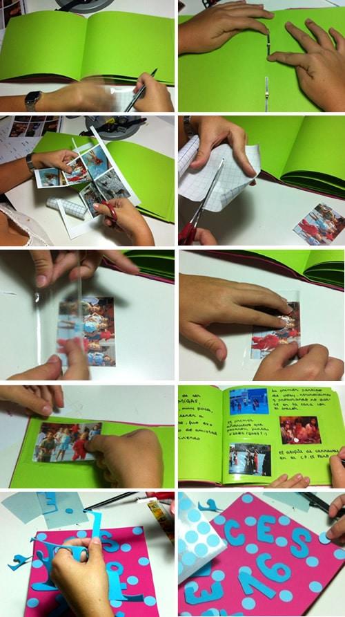 C mo hacer un lbum de fotos casero manualidades - Hacer un album de fotos casero ...