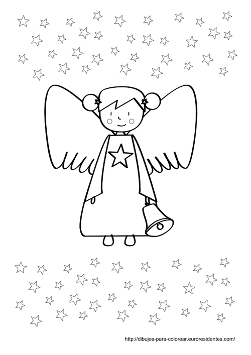 Angelito De Navidad Para Colorear Manualidades