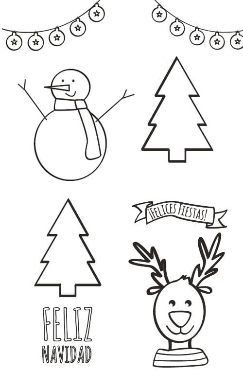 Dibujos De Navidad Para Colorear Manualidades