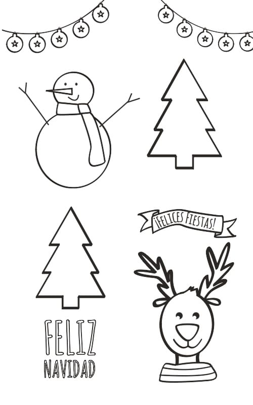 Dibujos de navidad para colorear manualidades euroresidentes - Dibujos navidenos para imprimir y colorear ...