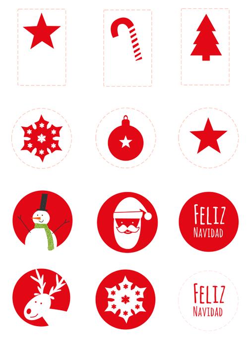 Imagenes De Motivos Navidenos Para Imprimir.Pegatinas De Navidad Imprimibles Manualidades