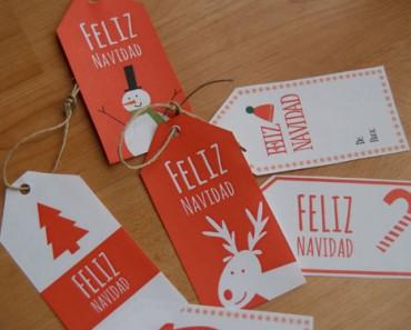 etiquetas navidad diy