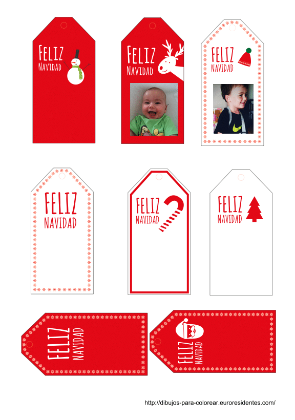 Etiquetas de navidad para imprimir - Manualidades