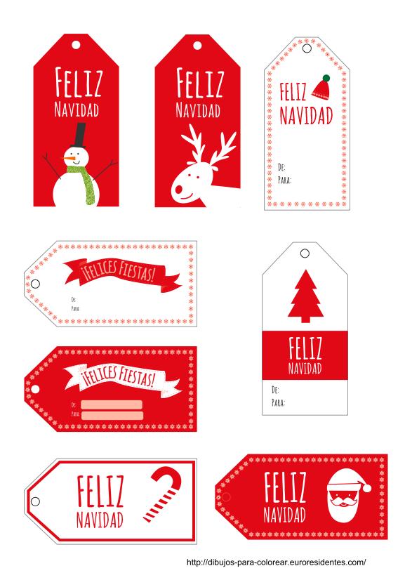 Etiquetas De Navidad Para Imprimir Manualidades