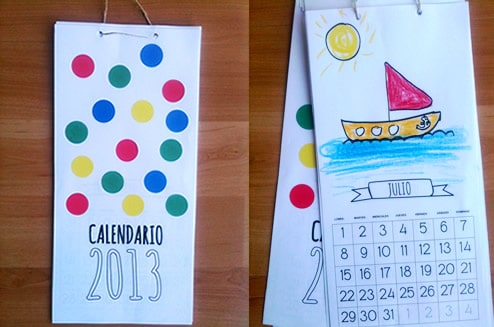 Calendario 2013 para imprimir manualidades for Calendario manualidades