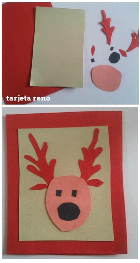 como hacer tarjeta casera de Navidad