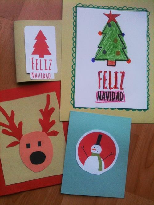 ideas para tarjetas de navidad caseras