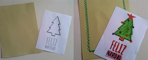 tarjeta Navidad casera