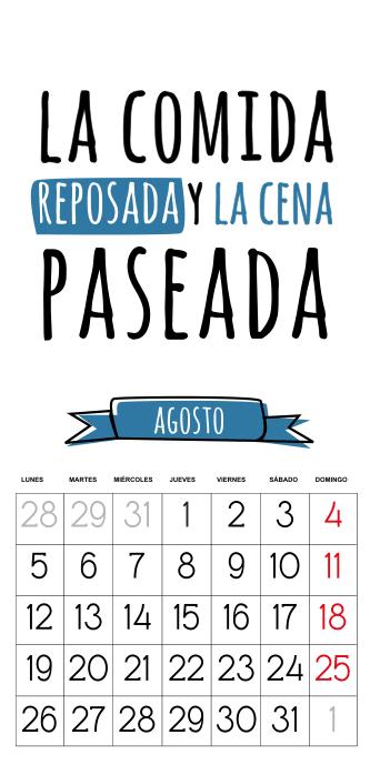 calendario 2013 gratis agosto
