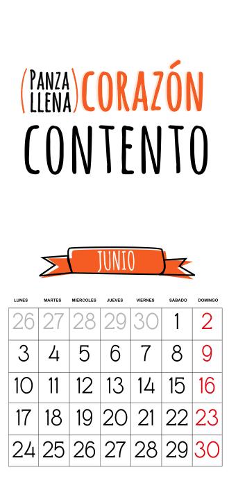 calendario 2013 gratis junio