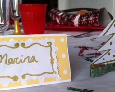 Cómo hacer cartelitos con nombre para la mesa