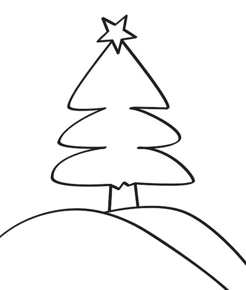 rbol de Navidad para colorear  Manualidades