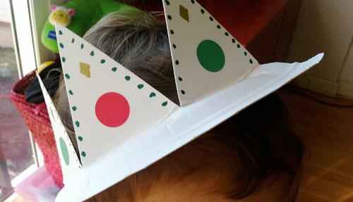 corona de rey plato papel