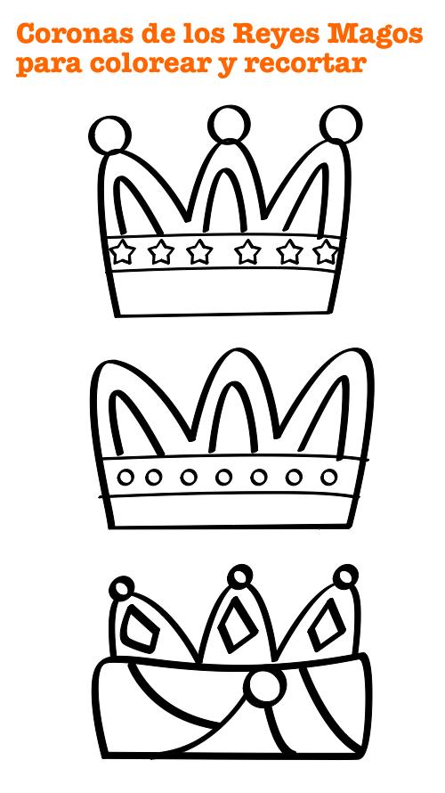 Corona Reyes Magos para colorear - Manualidades