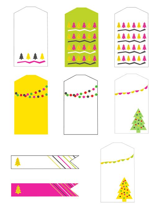 Etiquetas regalos de Navidad para imprimir - Manualidades