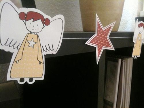 C mo hacer una guirnalda de navidad con angelitos y - Guirnaldas navidad manualidades ...