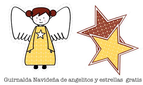 C mo hacer una guirnalda de navidad con angelitos y for Guirnaldas para imprimir