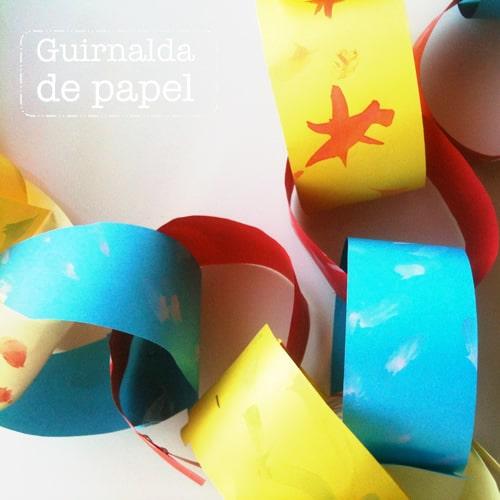 Guirnalda de papel cadena