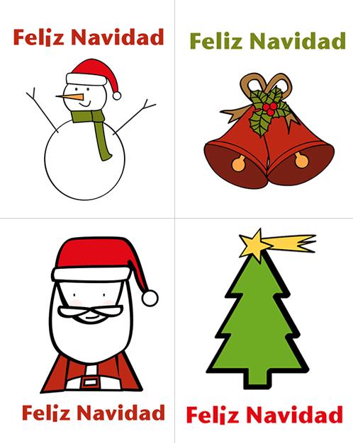 Dibujos de navidad para imprimir manualidades - Dibujos tarjetas navidenas ...