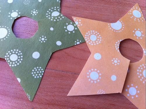 Manualidades, estrellas de papel
