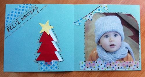 C mo hacer tarjetas navide as manualidades - Tarjetas de navidad faciles ...