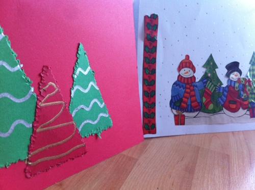 Manualidades de navidad para ni os manualidades - Manualidades postales navidad ...