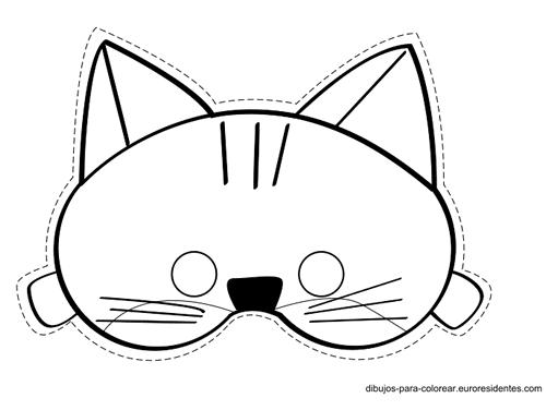 Caretas De Gato Para Imprimir Y Colorear Manualidades