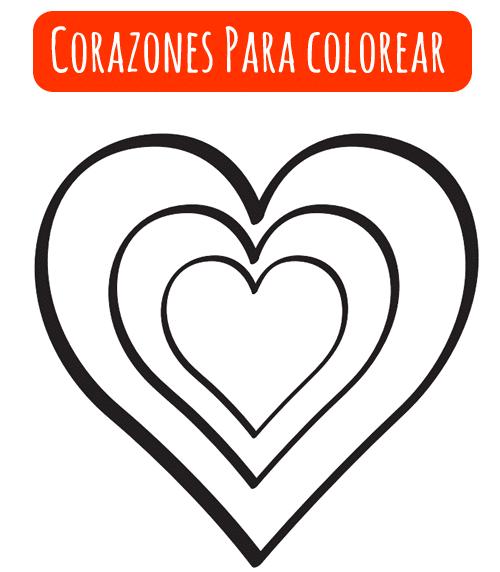 corazones para colorear