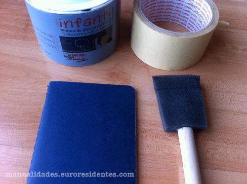 como personalizar un cuaderno con pintura de pizarra paso a paso