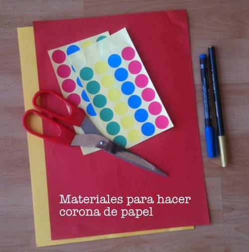 Material para hacer corona de papel