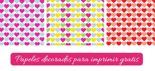 papel decorado corazones