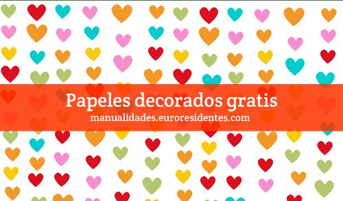Papel decorado corazones manualidades - Papel decorado para manualidades ...