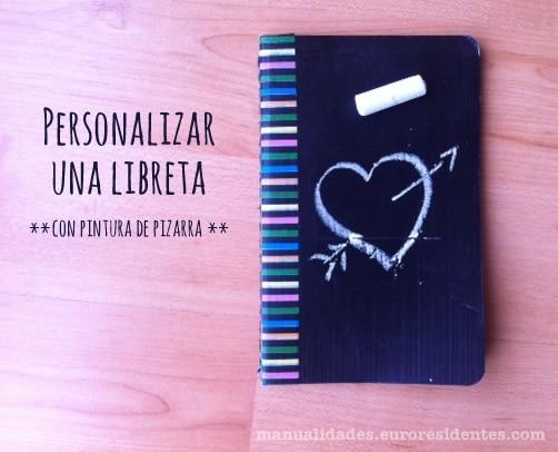 Personalizar cuadernos con pintura de pizarra