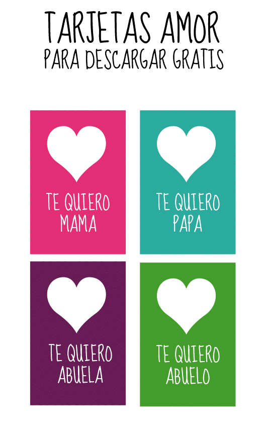 Tarjetas de amor para imprimir - Manualidades