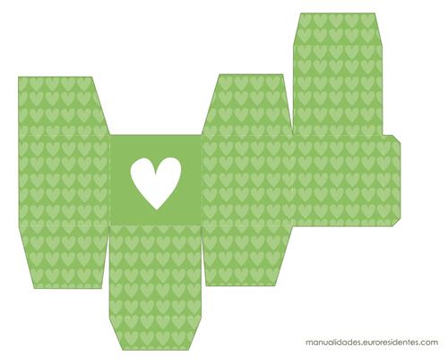 Caja San Valentín verde